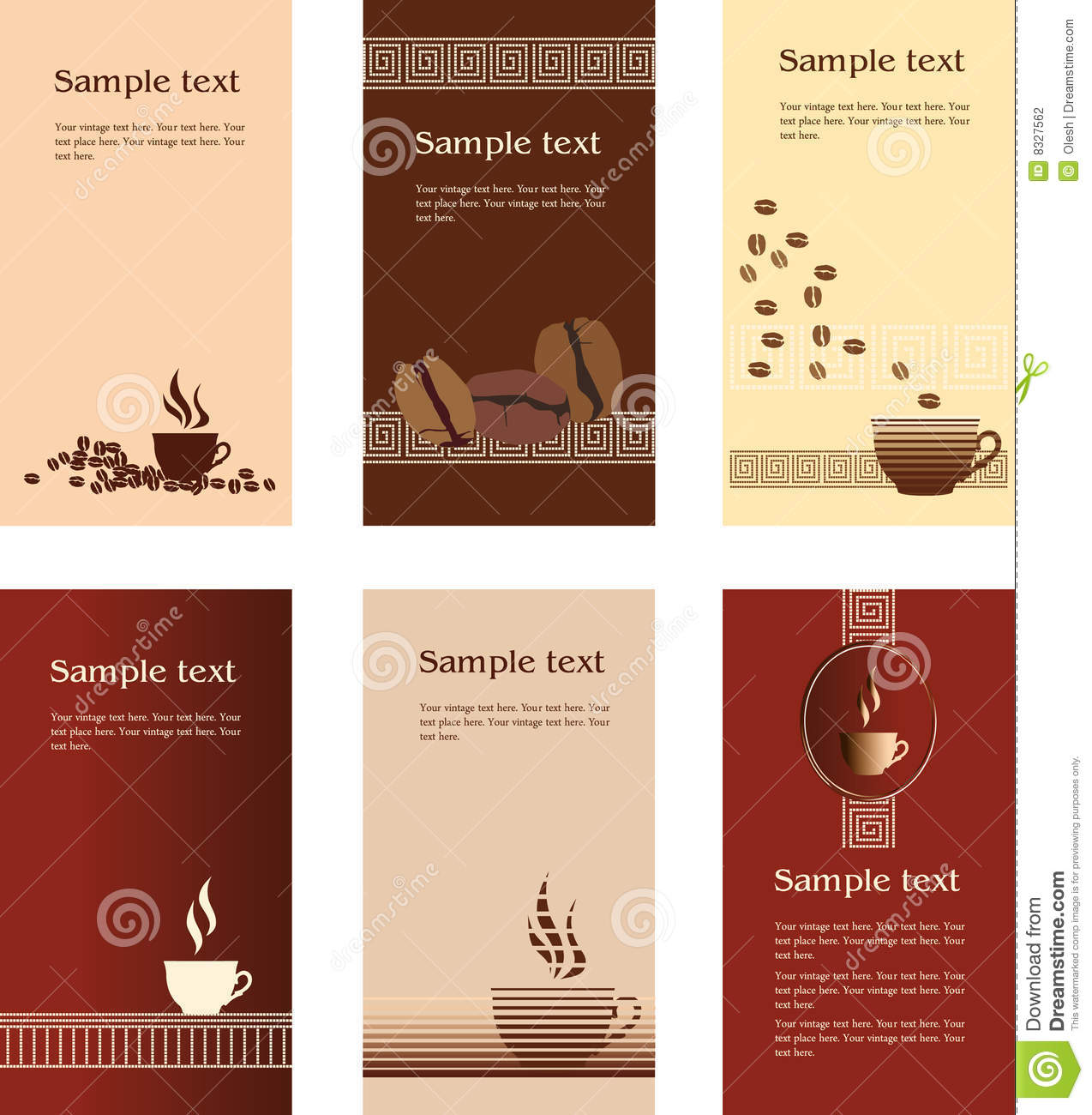 Coffee business card template stock vector illustration of template designs of business card for coffee shop royalty free illustration accmission Gallery