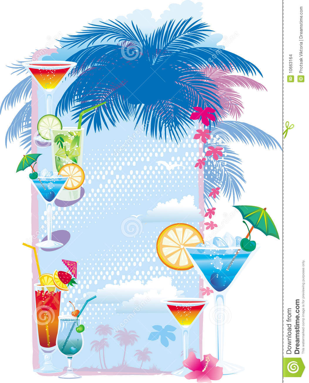 Template designs of cocktail menu stock vector image for Drink menu template microsoft word