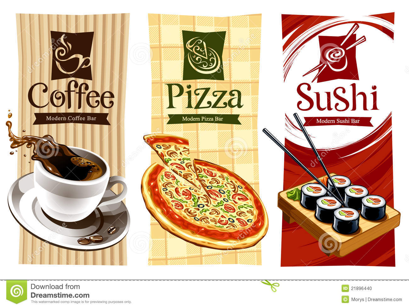 template designs of food banners stock photo  image: 21896440