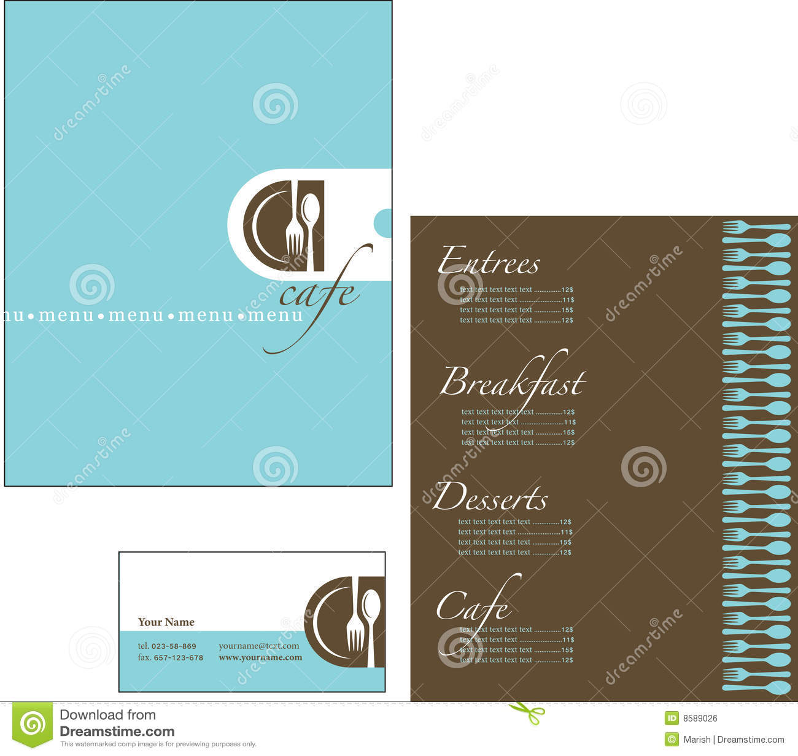 business menu template