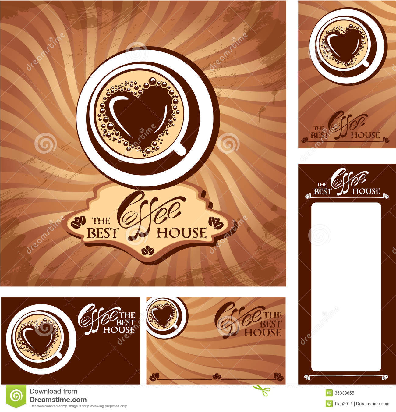 template designs of menu and business cards for co stock vector