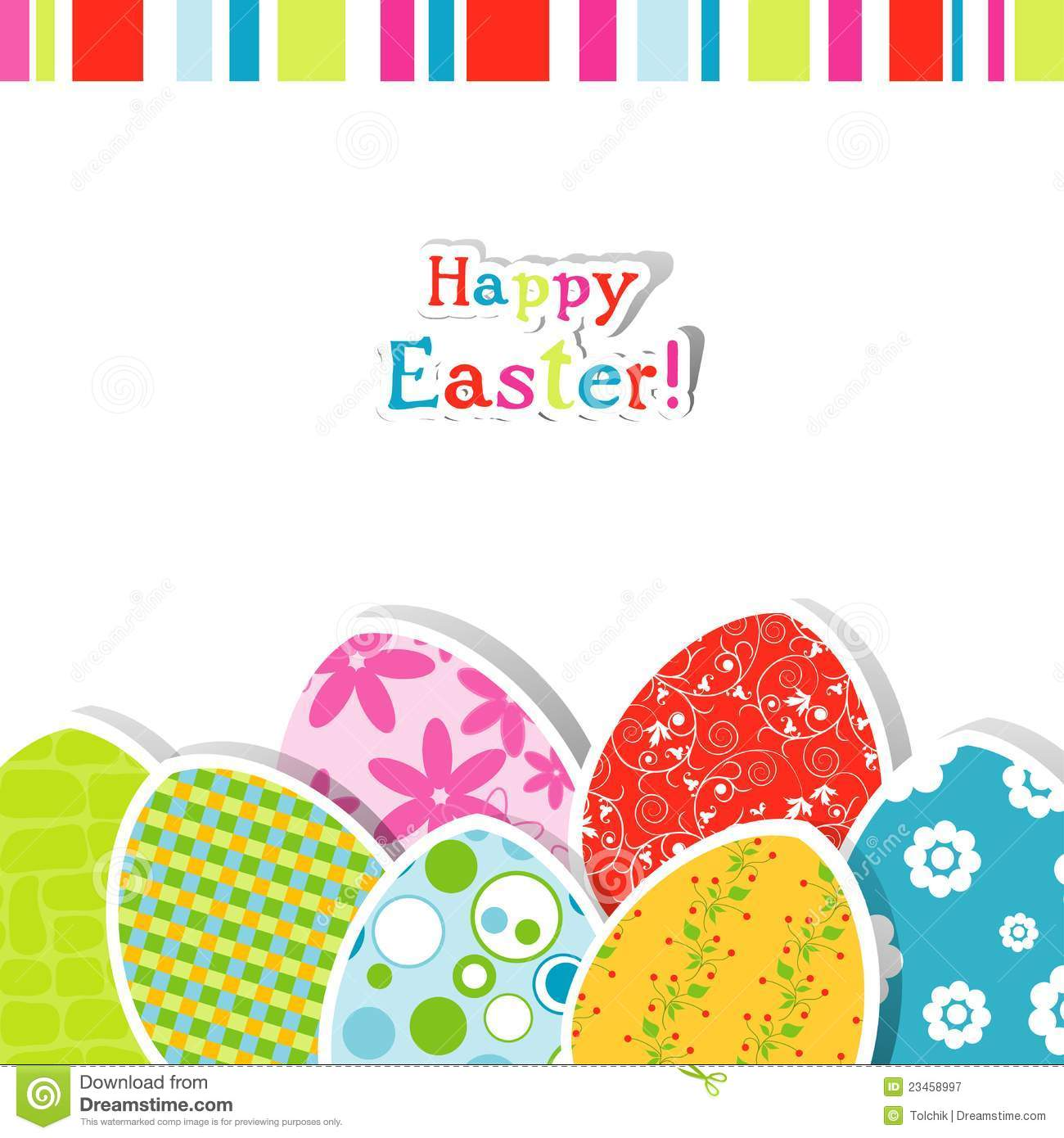Template Easter Greeting Card Stock Vector Illustration Of