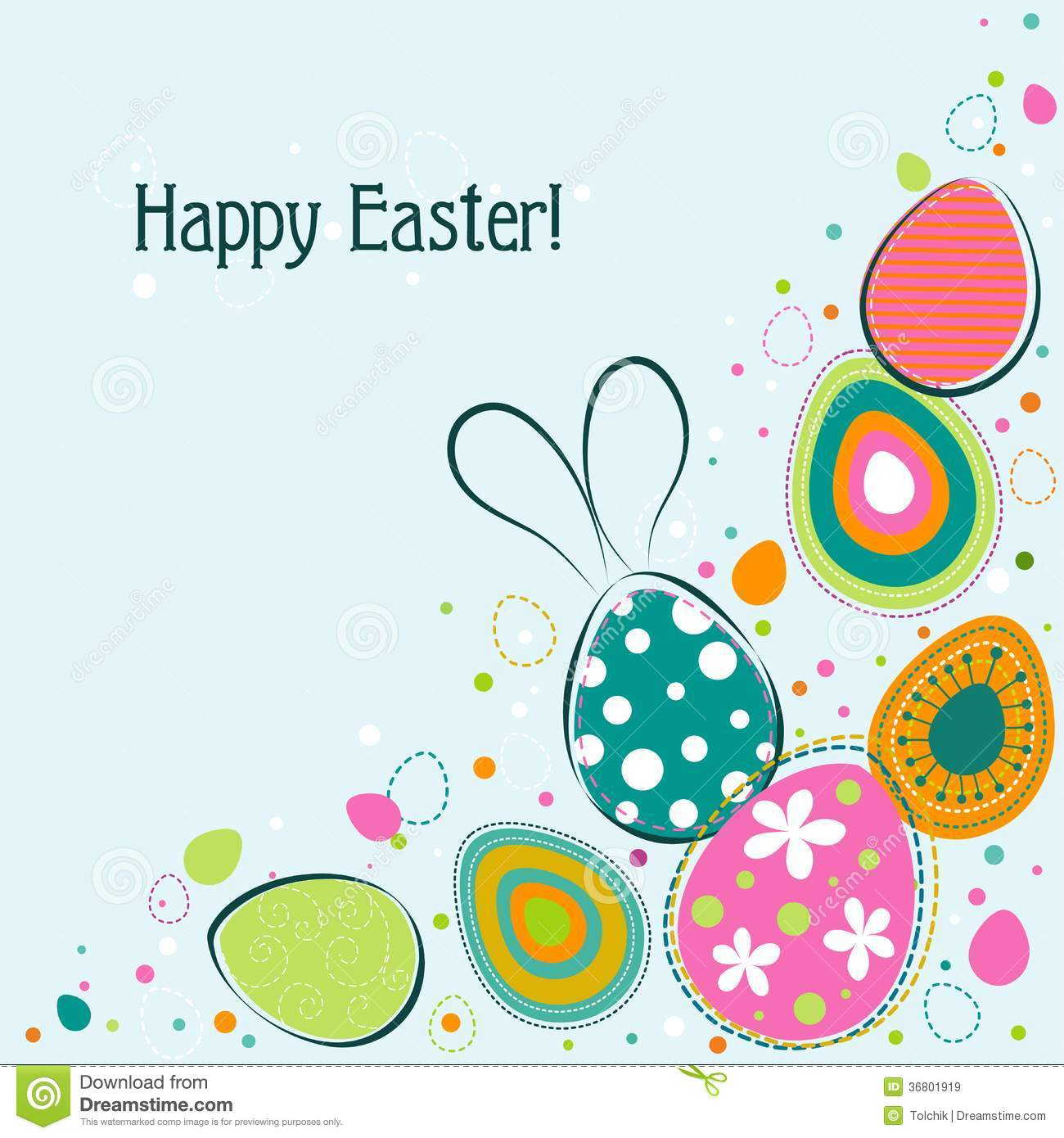 Template Easter Greeting Card Vector Royalty Free Images – Easter Greeting Card Template