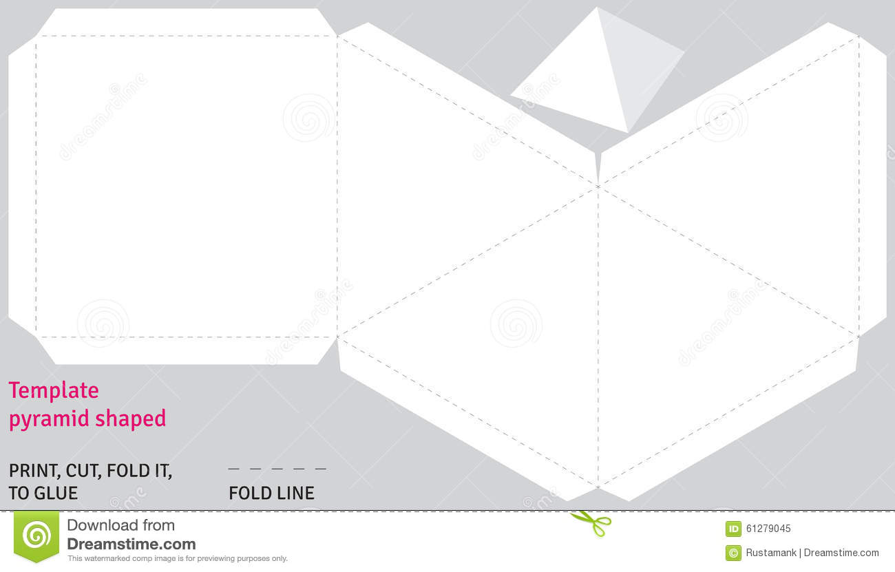 Template Egyptian Pyramid Shaped, Vector Stock Vector - Illustration ...