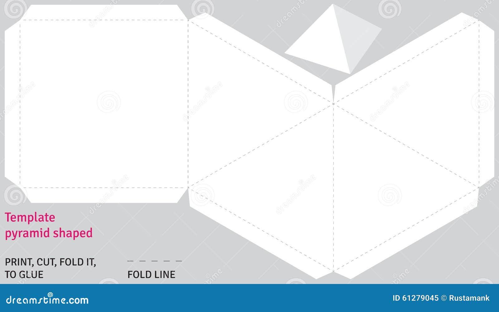 Схема пирамиды из бумаги распечатать