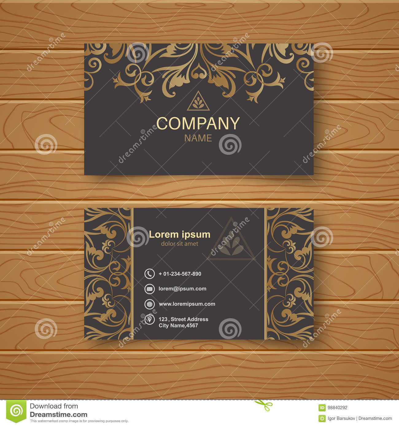 template of the empty business card stock vector illustration of