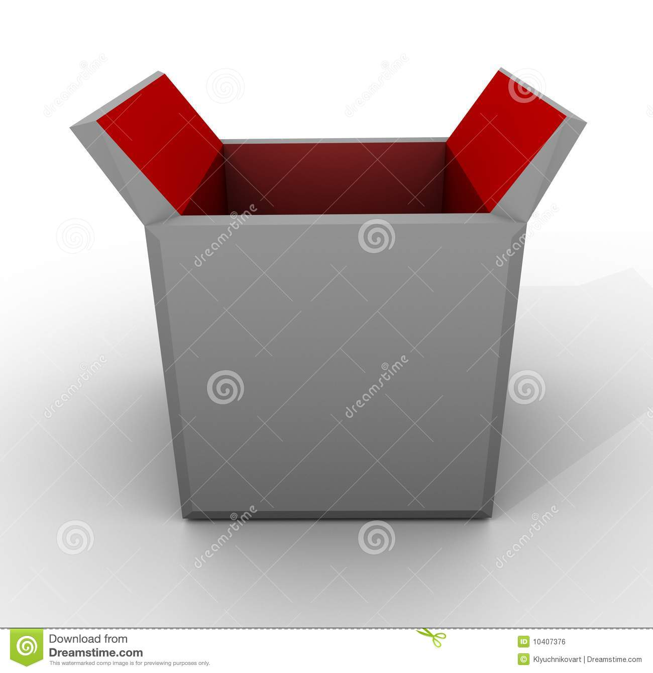 template empty open box red grey white carton royalty free stock image image 10407376. Black Bedroom Furniture Sets. Home Design Ideas