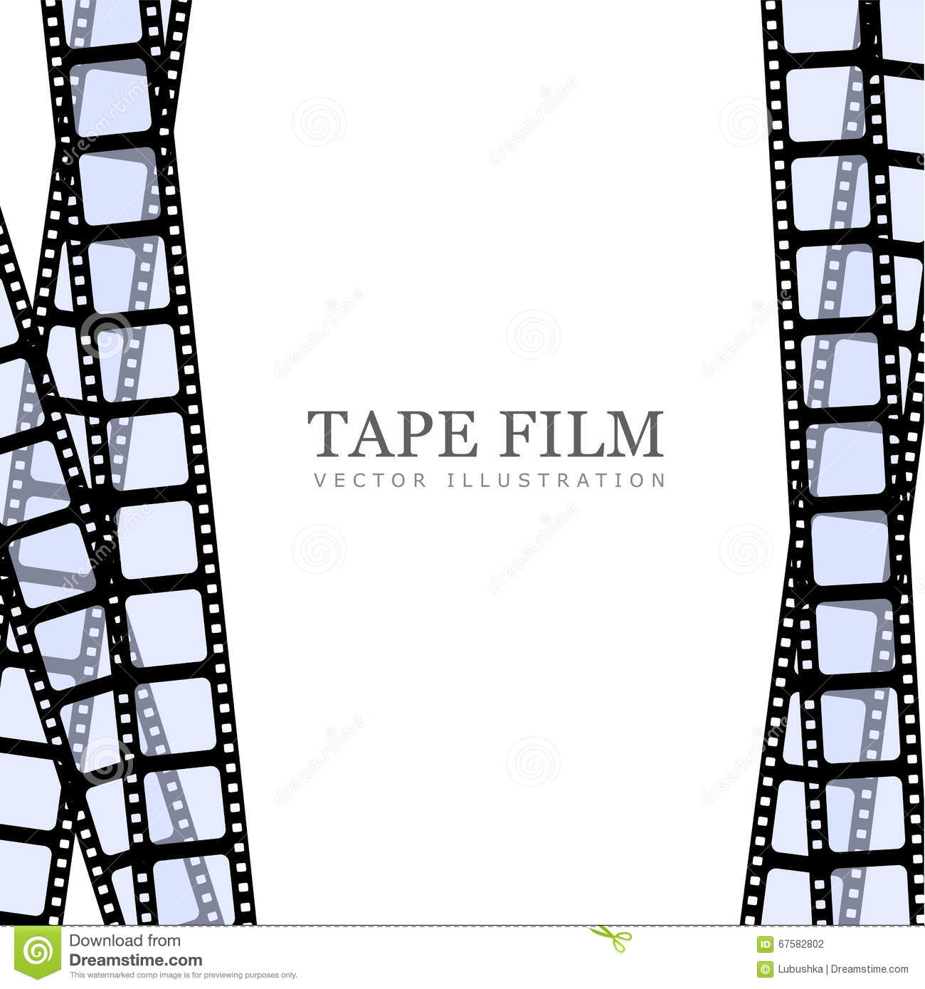 Template Film Roll Stock Vector - Image: 67582802
