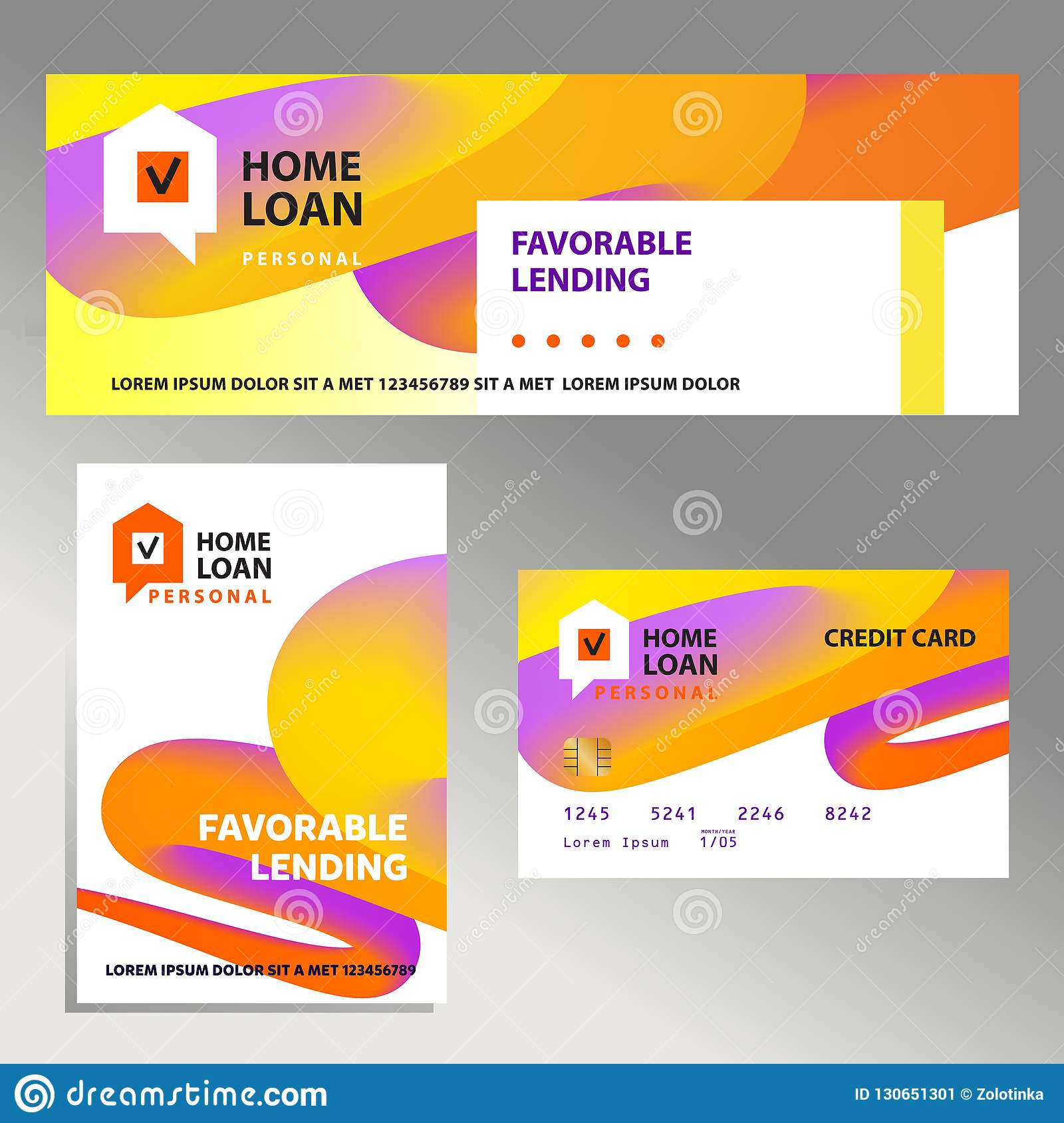 Template Financial Sign Logo Badge With Plan House Home Loan
