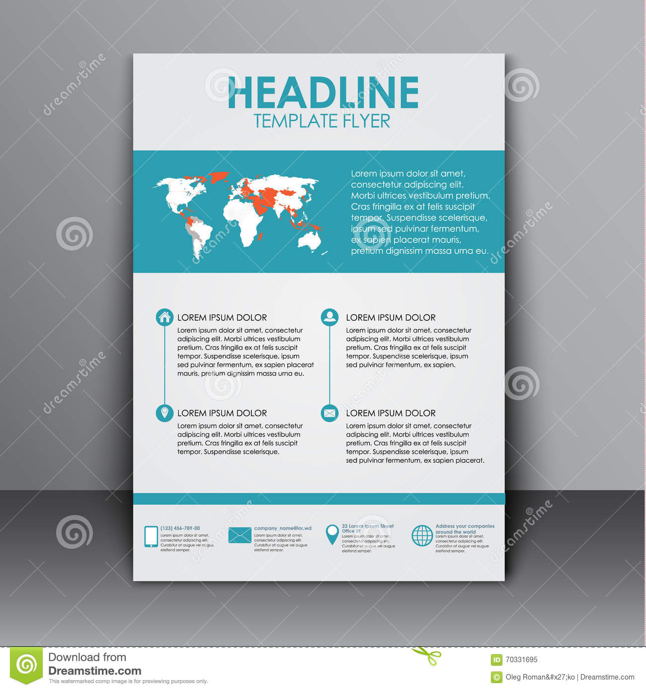 Template flyer with information for advertising stock for Informative poster template
