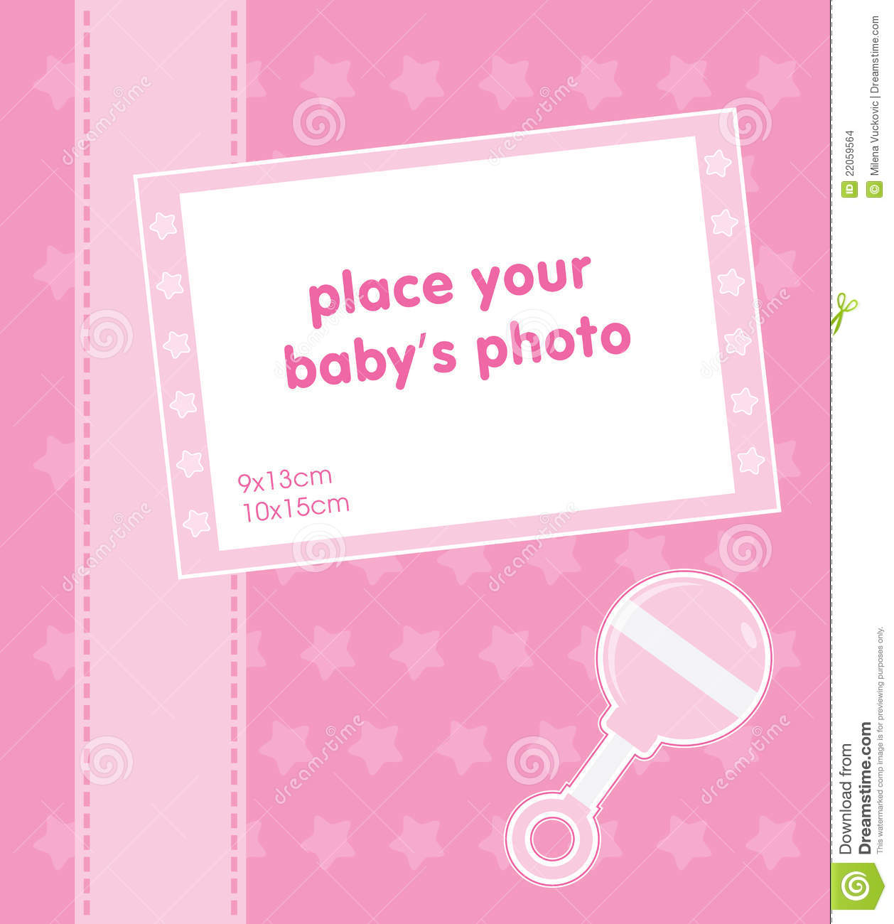 Template Frame Design For Baby Girl Photo Royalty Free – Free Baby Girl Announcement Templates