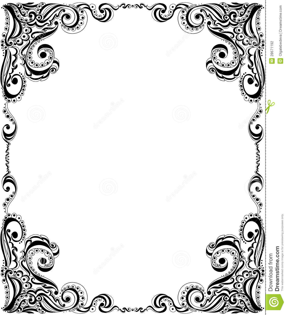 Template Frame Design For Card Floral Pattern Stock Photography mATskl6A