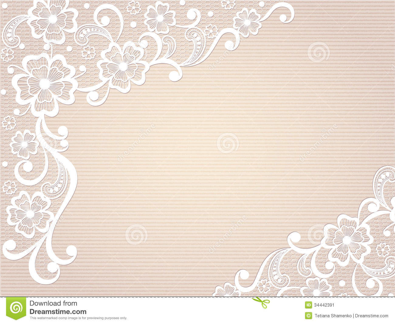 Template Frame Design For Card. Stock Image - Image: 34442391