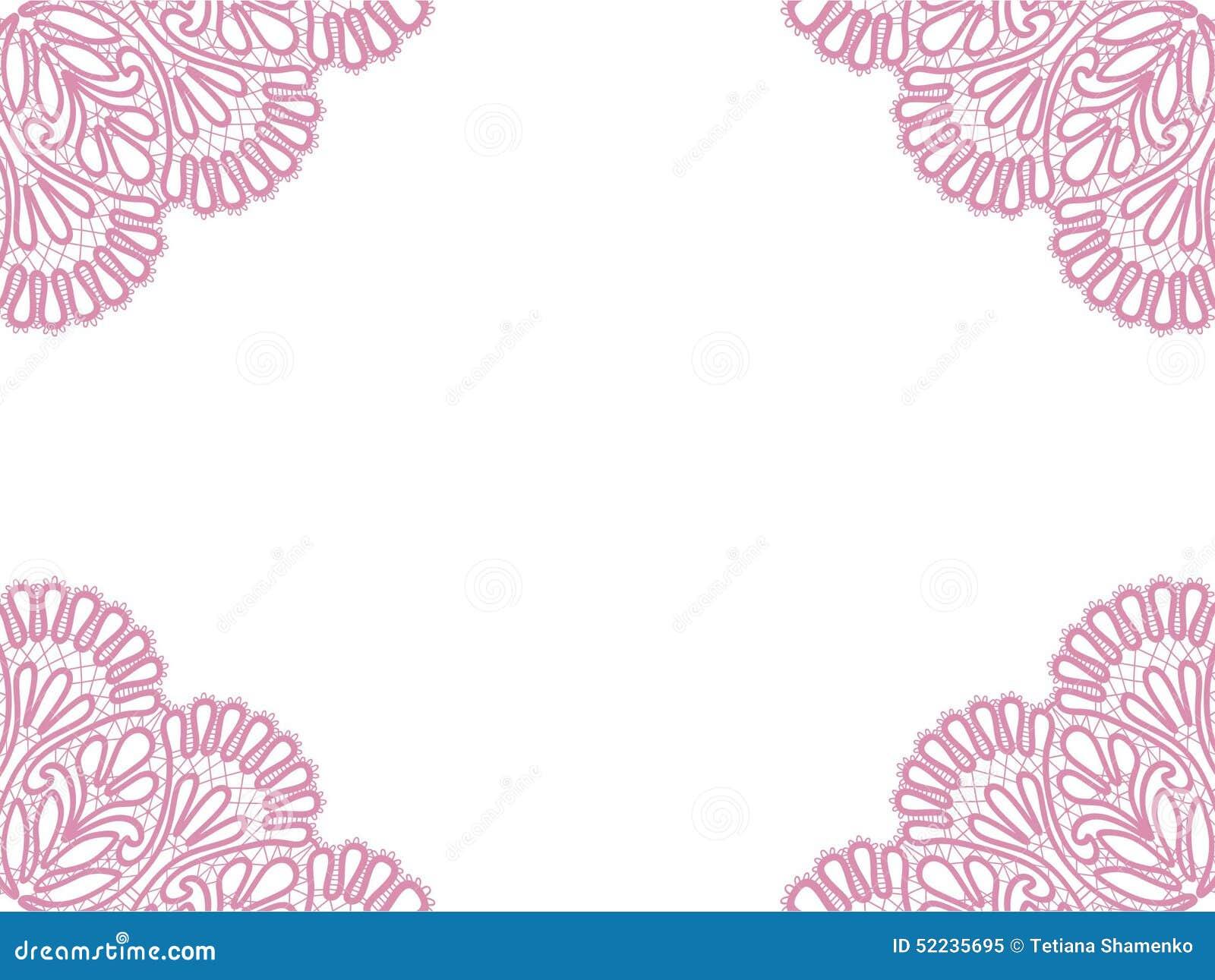 Template Frame Design For Card Stock Illustration