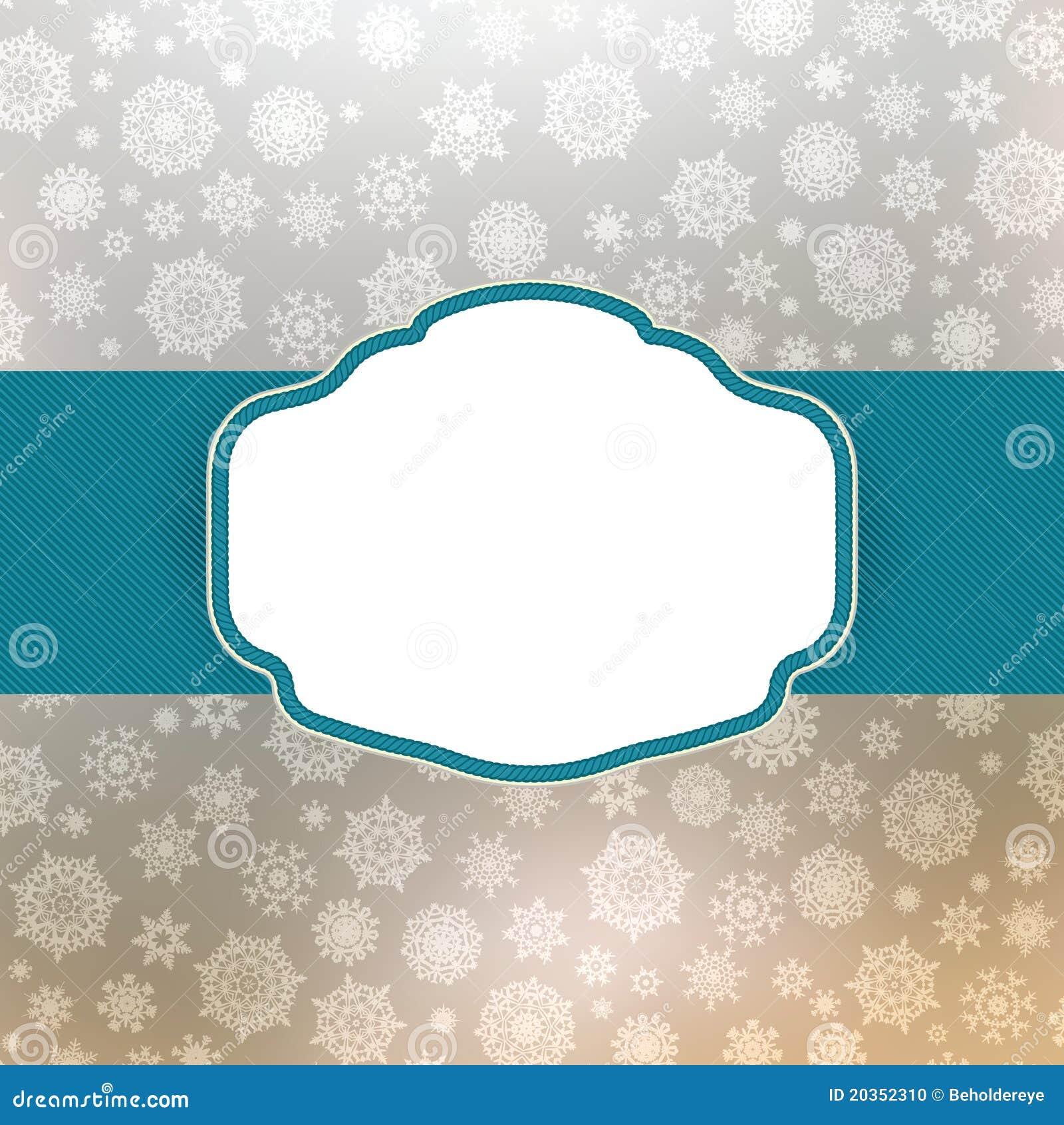 template frame design for christmas card eps 8 stock vector