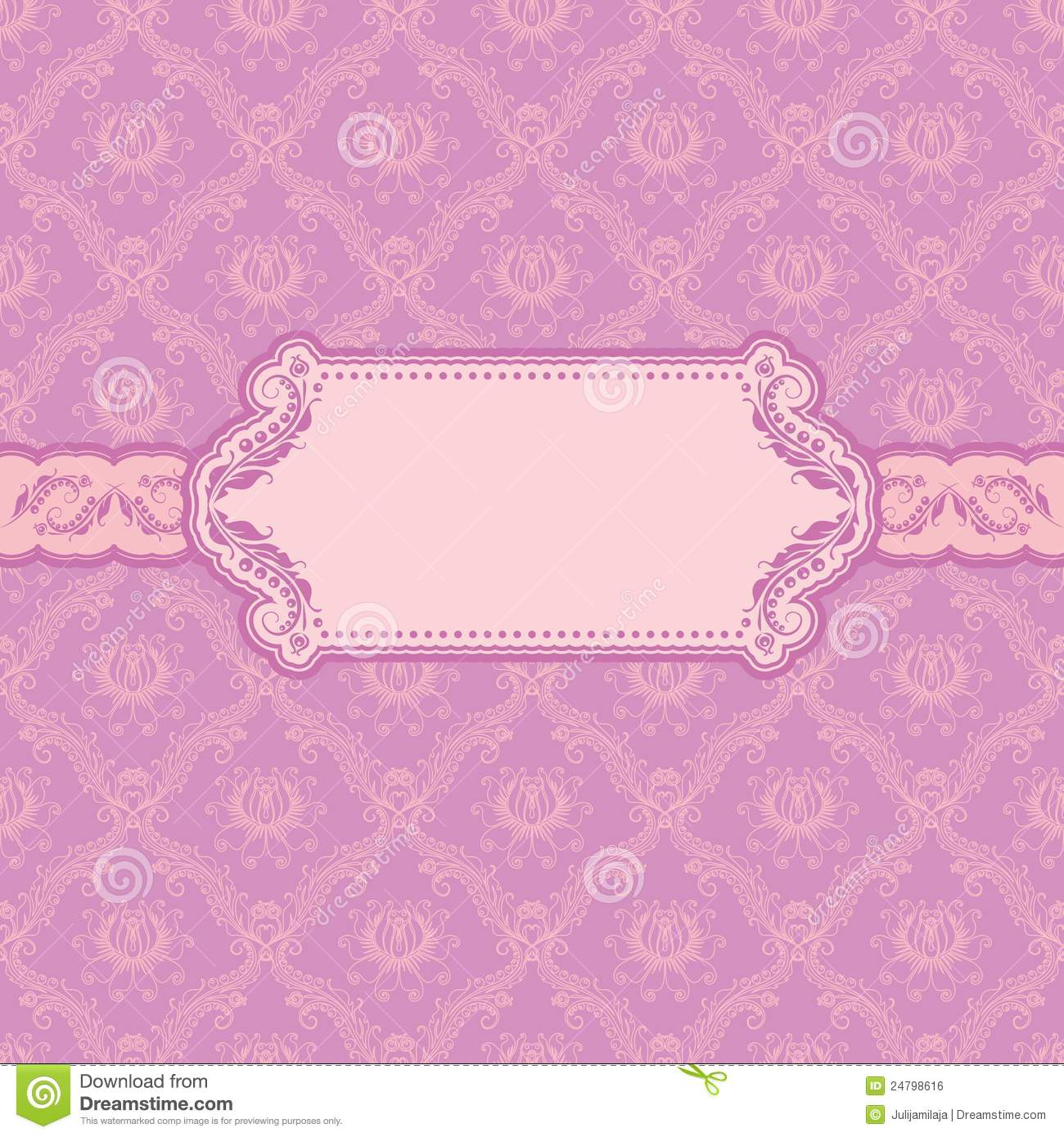 Template Greeting Card Royalty Free Stock Image: Template Frame Design For Greeting Card . Royalty Free