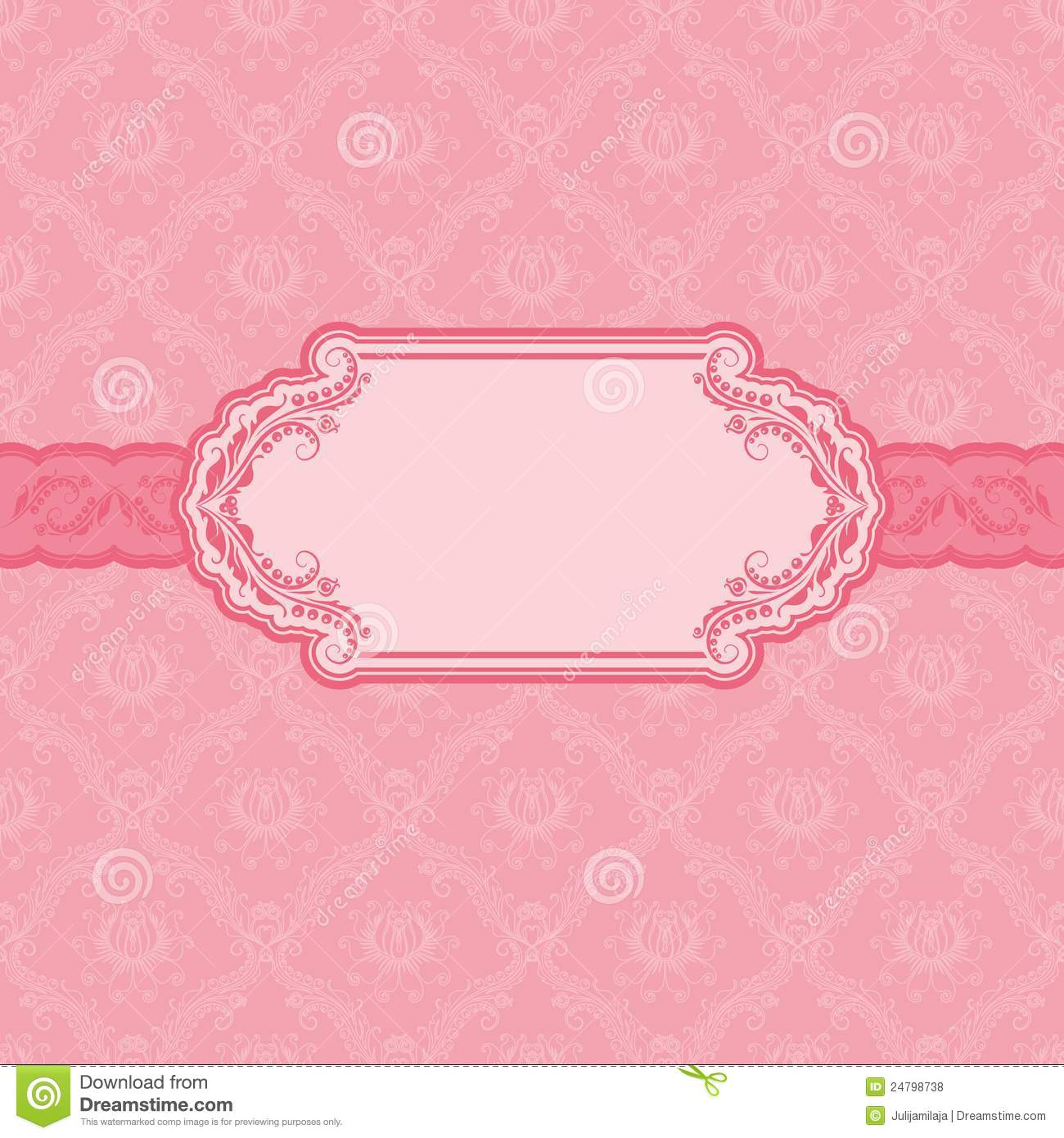 Template Frame Design For Greeting Card Royalty Free