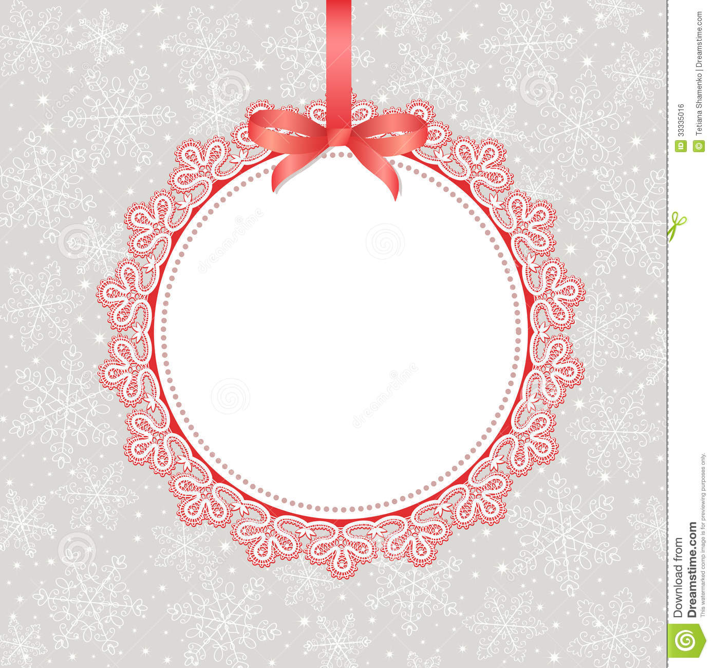 template frame design for greeting card stock illustration