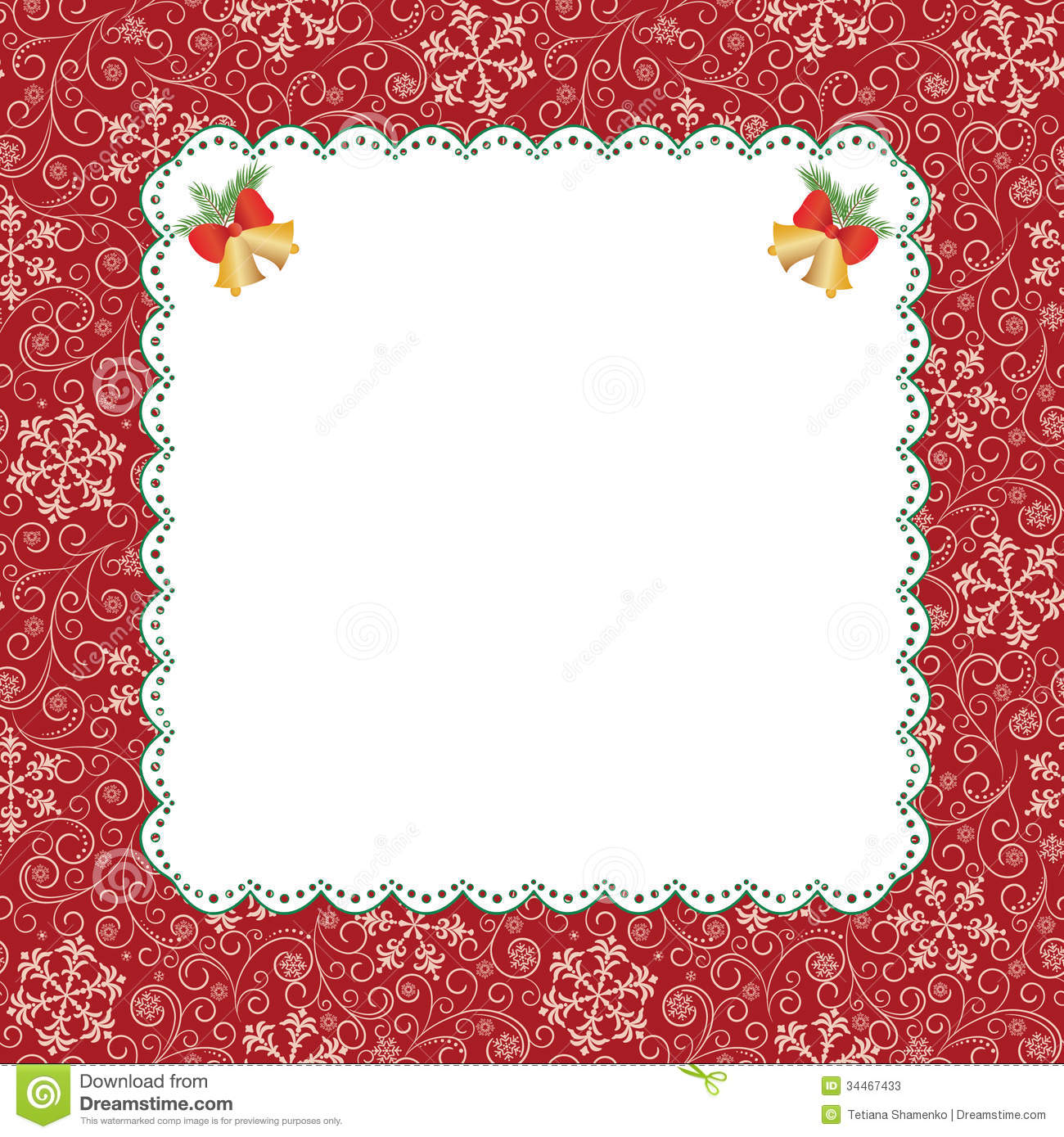 Template frame design for greeting card stock vector illustration template frame design for greeting card kristyandbryce Image collections