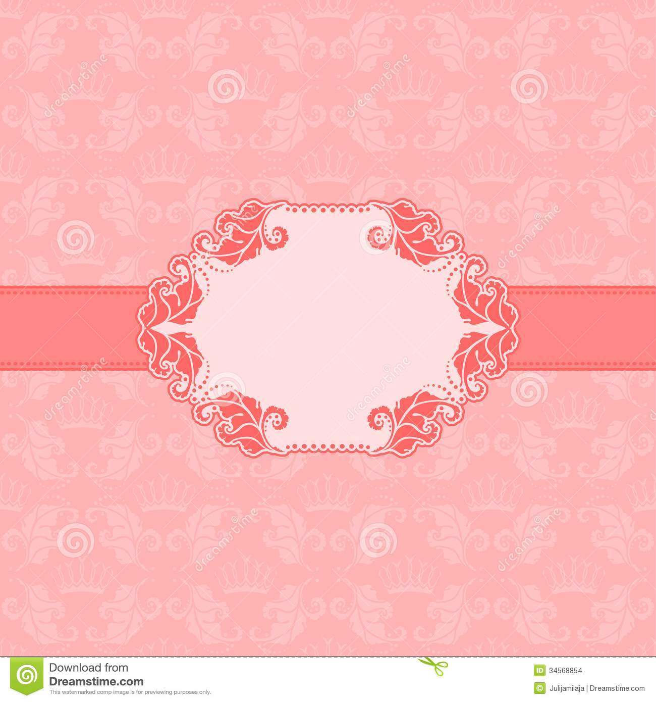 Vector template frame design for greeting card . Background - seamless ...