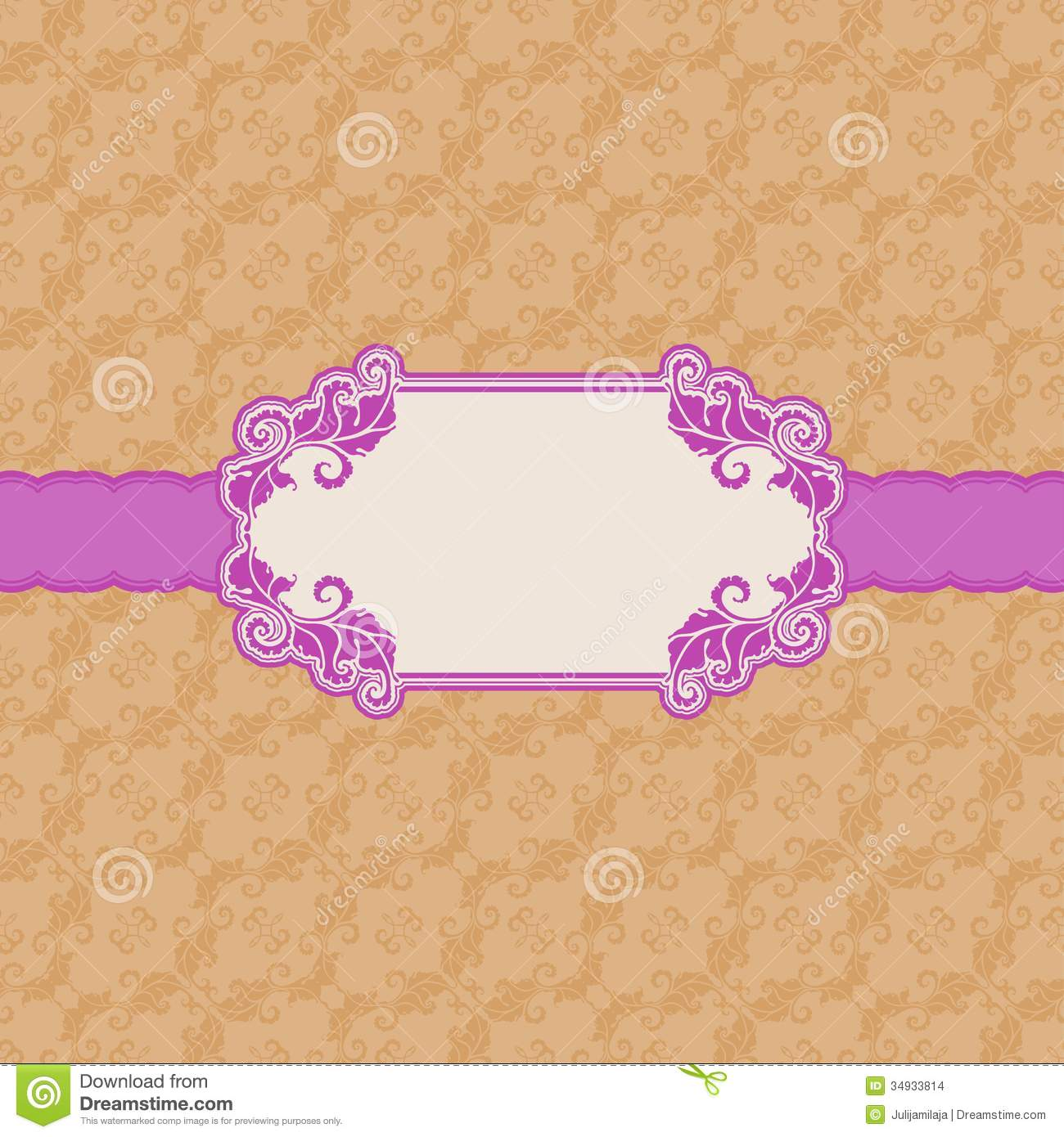 Template frame design for greeting card stock vector template frame design for greeting card kristyandbryce Choice Image