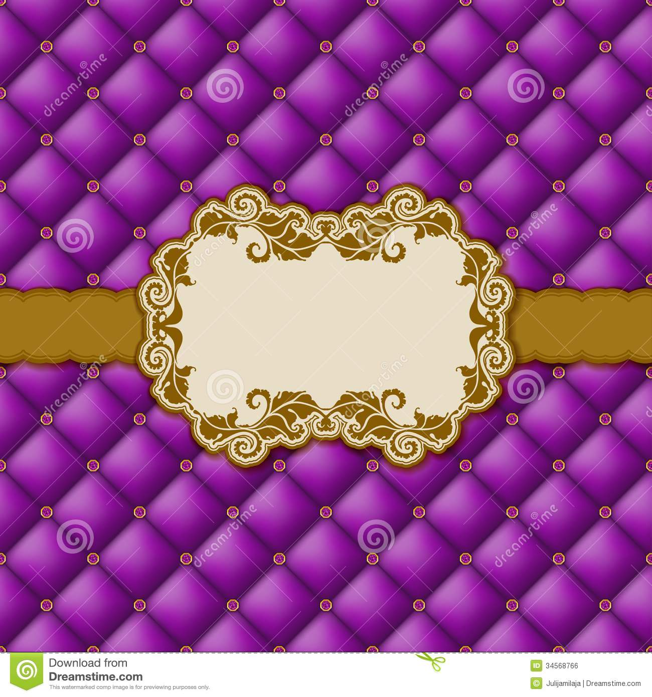 Template Frame Design For Greeting Card . Stock Photo