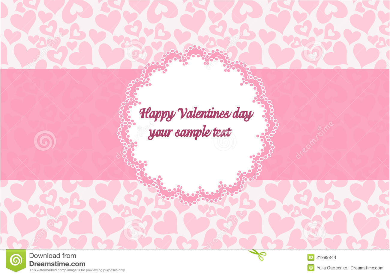 Template Frame Design For Valentine\'s Day Stock Vector ...