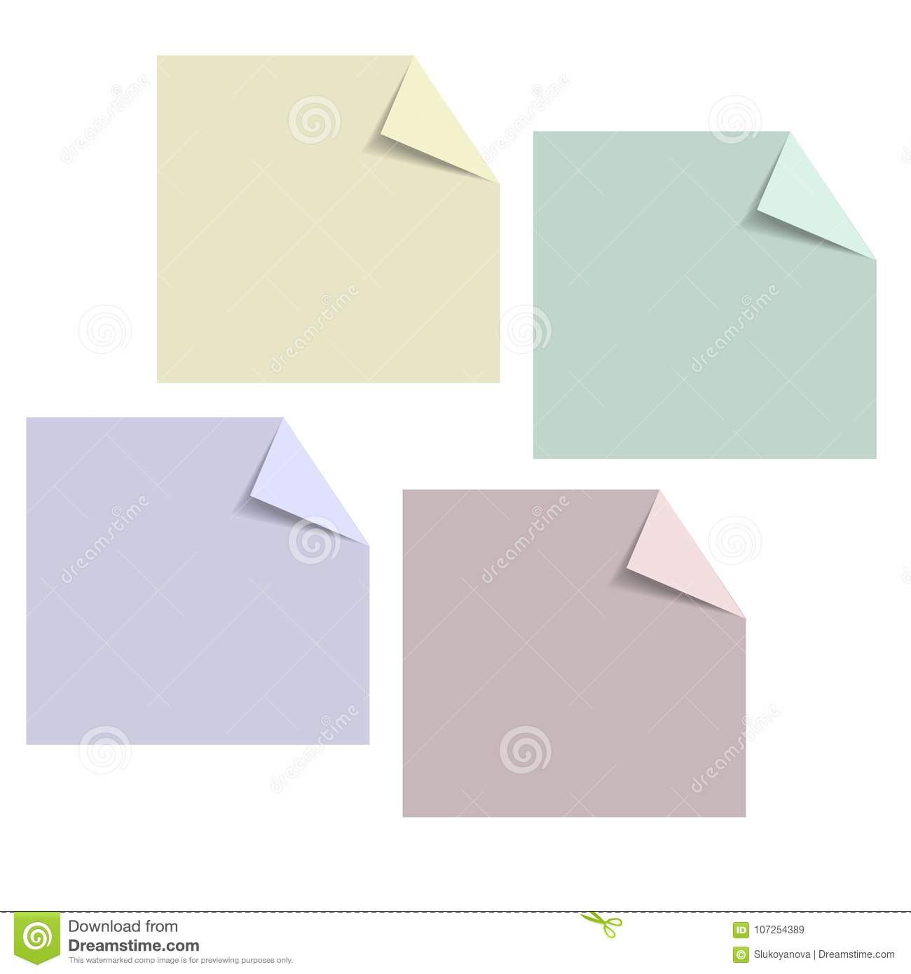 template frames with paper stock vector illustration of layout