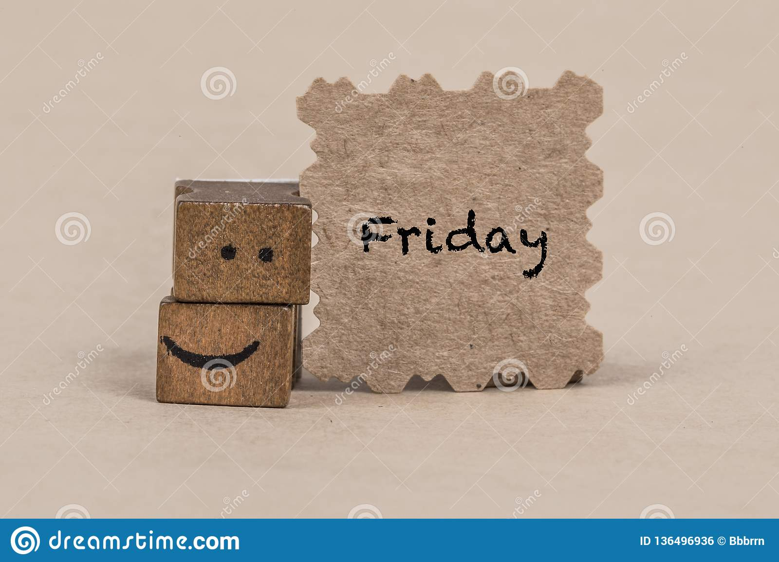 Template For Friday With A Smiley Icon Stock Photo Image Of Idea