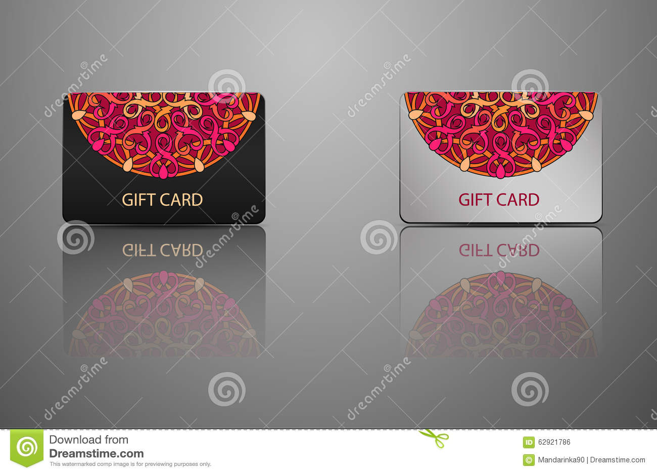 Template Gift Card, Credit Card, Business Card Stock Vector ...