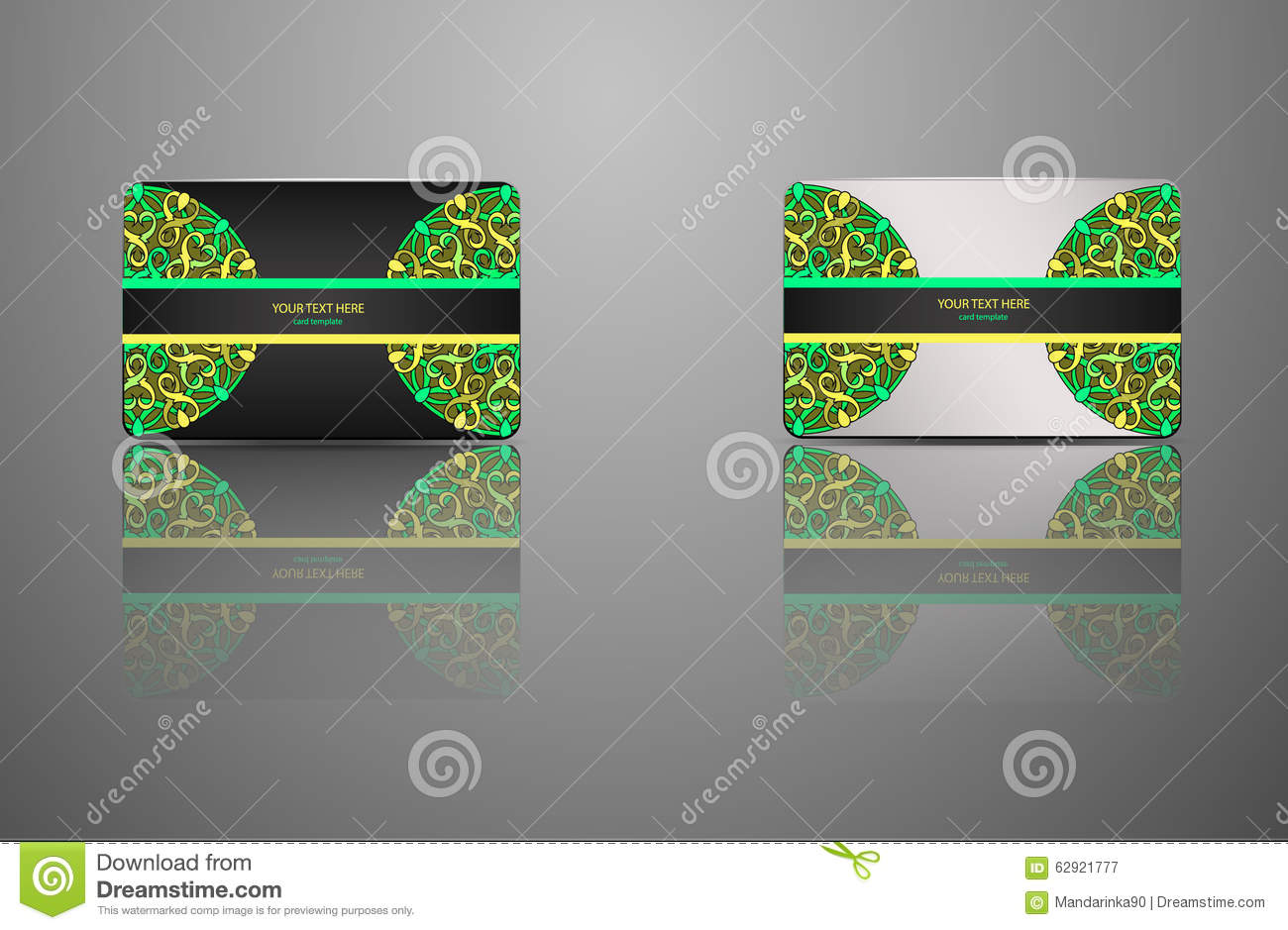 Template gift card credit card business card an invitation download template gift card credit card business card an invitation mandala stock fbccfo Images