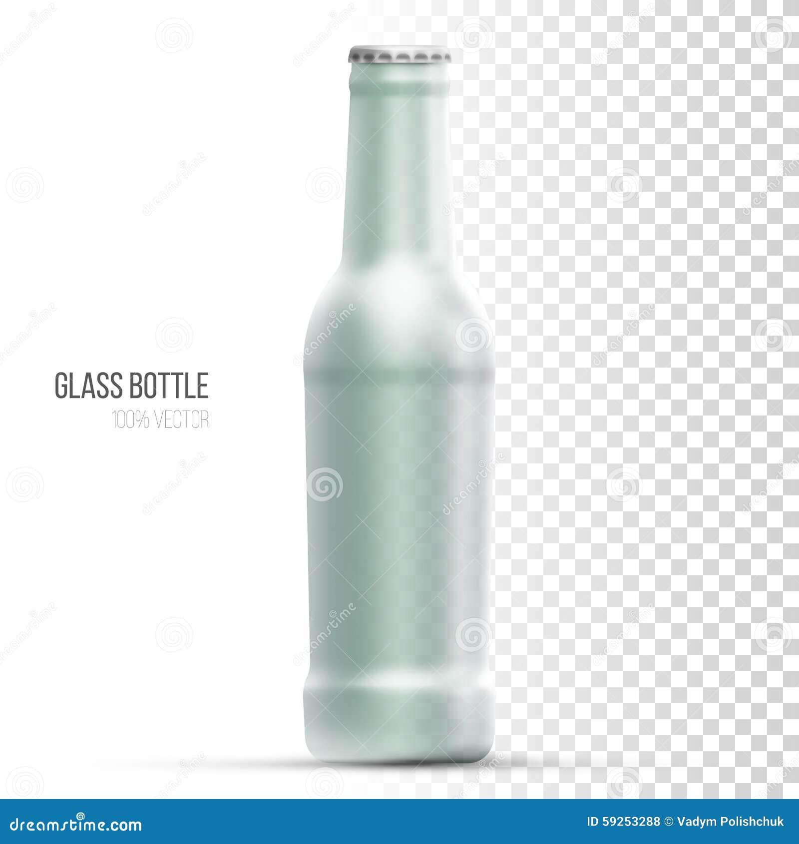 Template Of Glass Bottles For Liquid  Stock Vector - Illustration of