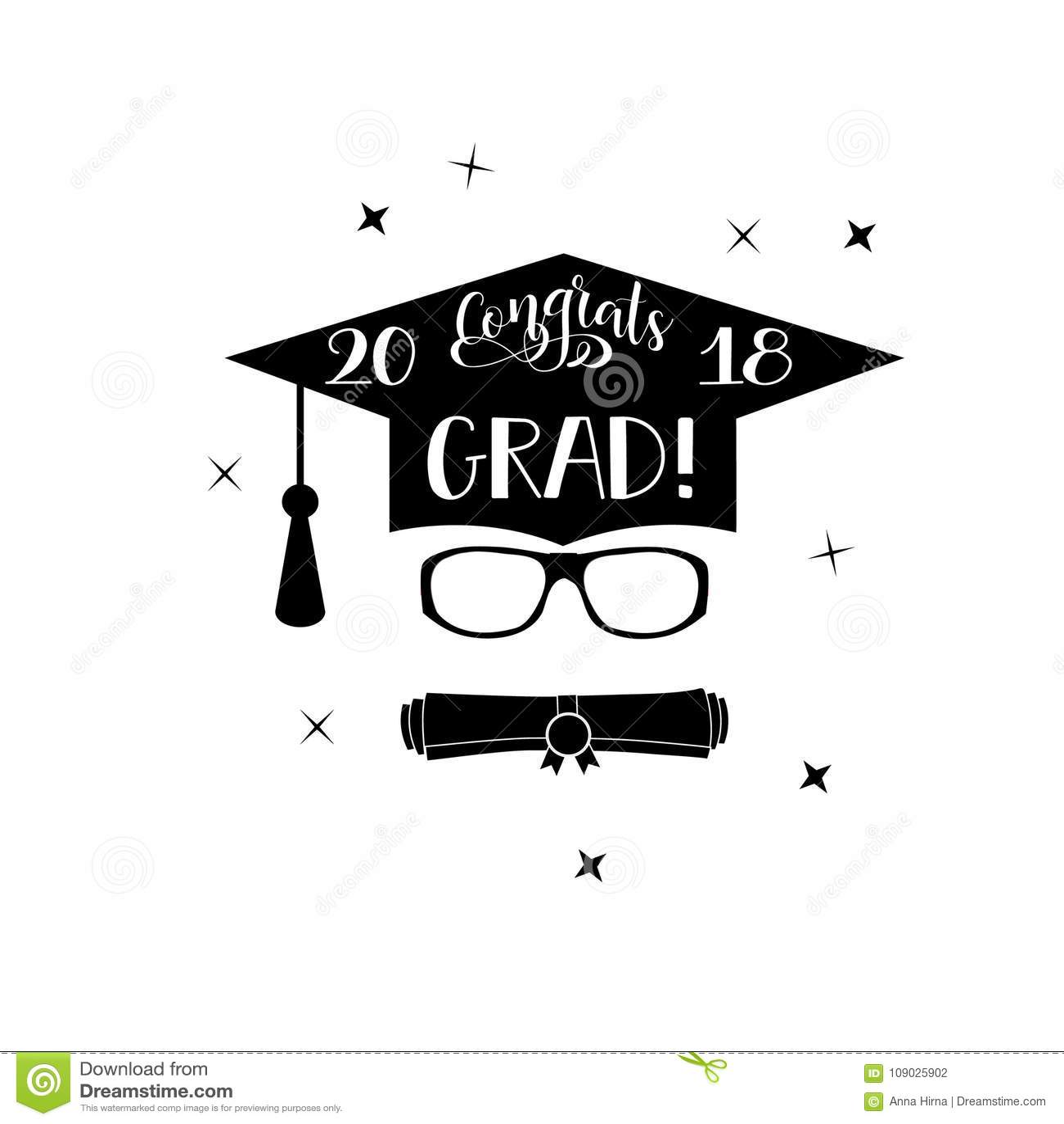 Congrats Grad Lettering Congratulations Graduate Banner Stock - Graduation banner template