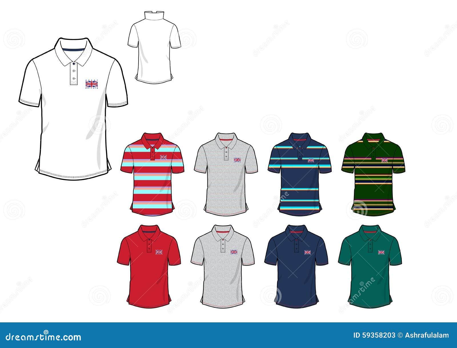 Design shirt v neck - Template Of Great Britten Mans Flag Polo Shirt Design Design Stock Photos