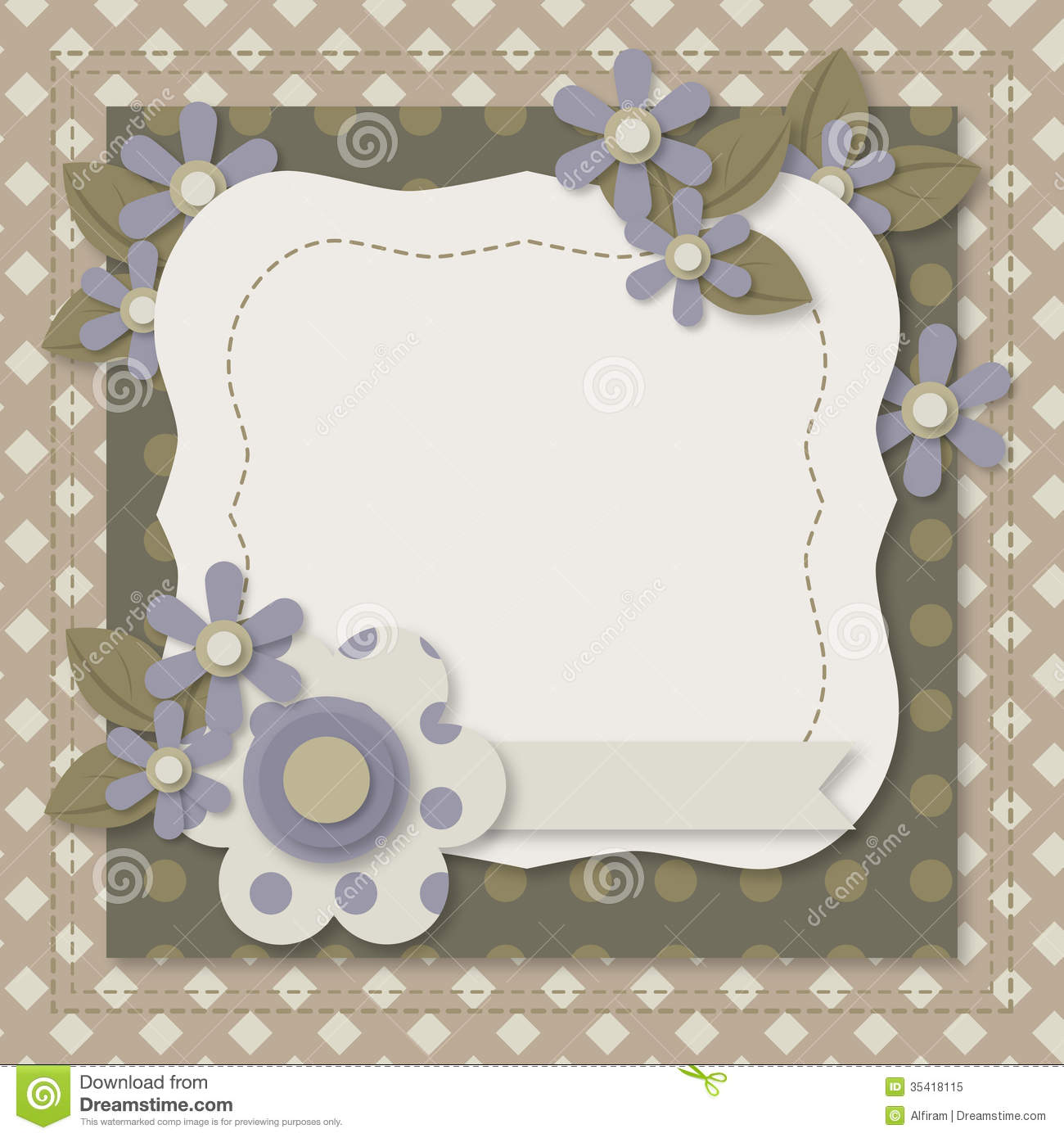 Template Greeting Card Royalty Free Stock Image: Template Of Greeting Card Or Album Page Royalty Free Stock
