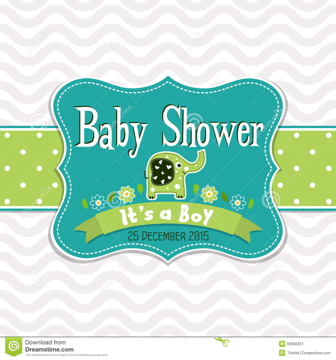 template greeting card baby shower vector stock vector image