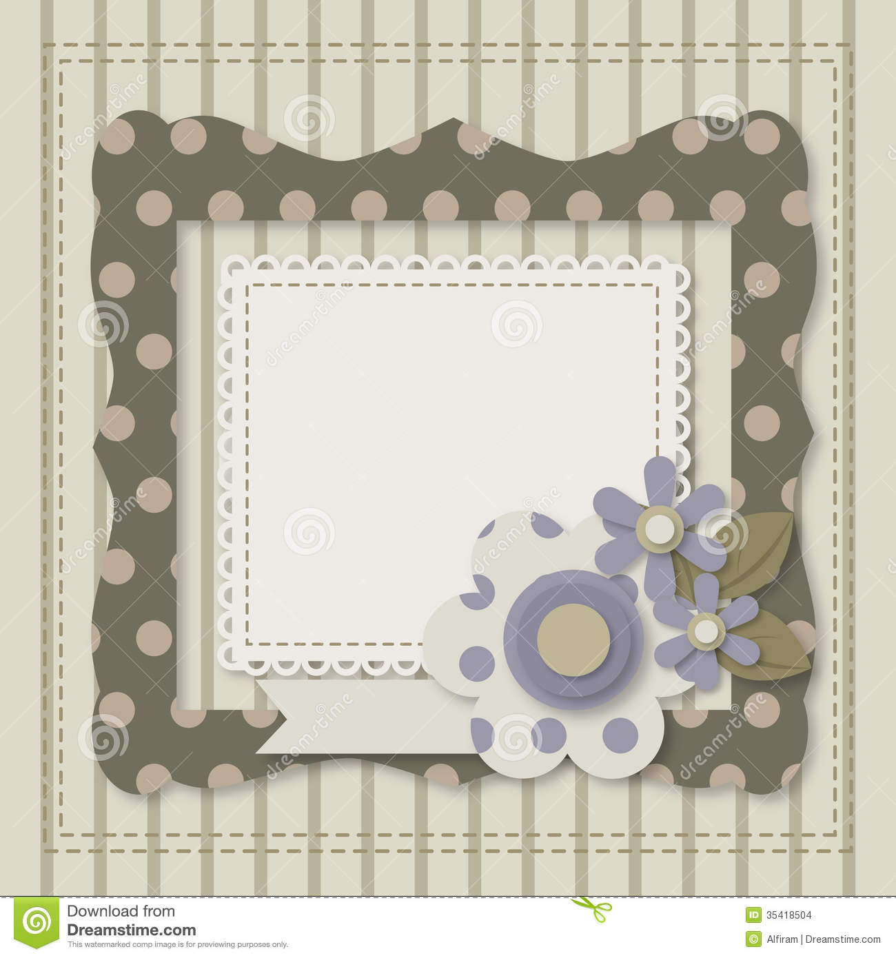 Template Of Greeting Card Stock Images - Image: 35418504