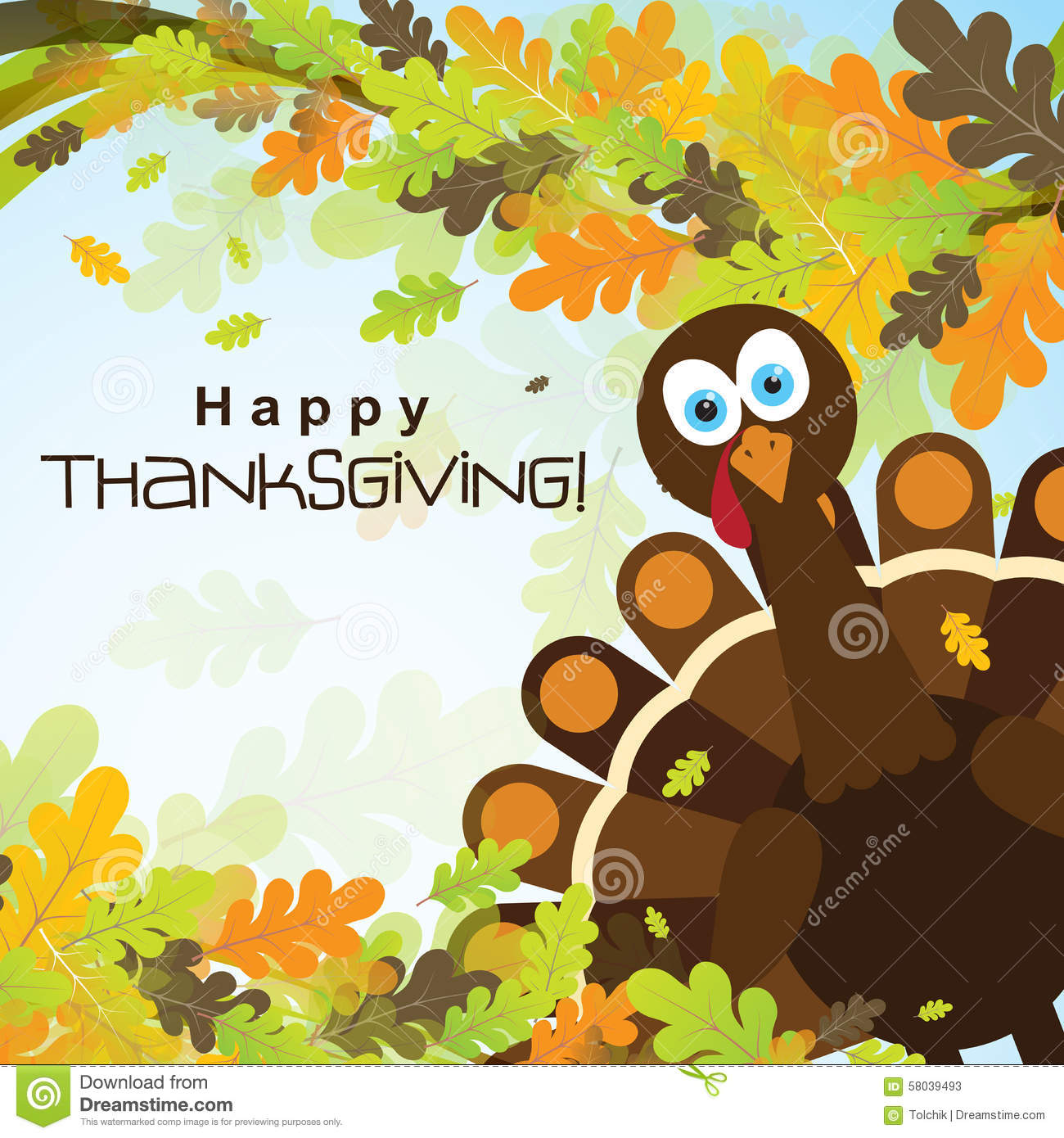 Template greeting card with a happy thanksgiving turkey vector template greeting card with a happy thanksgiving turkey vector kristyandbryce Choice Image
