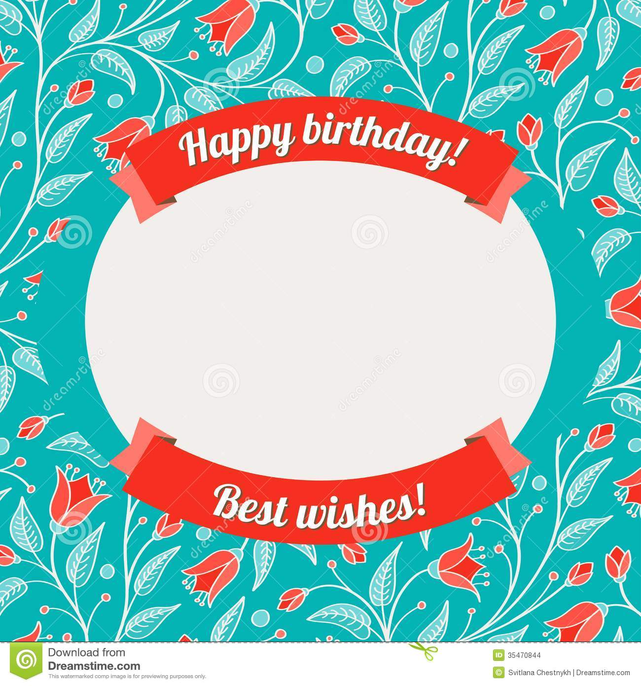 Template For Greeting Card Or Invitation Stock Vector Illustration