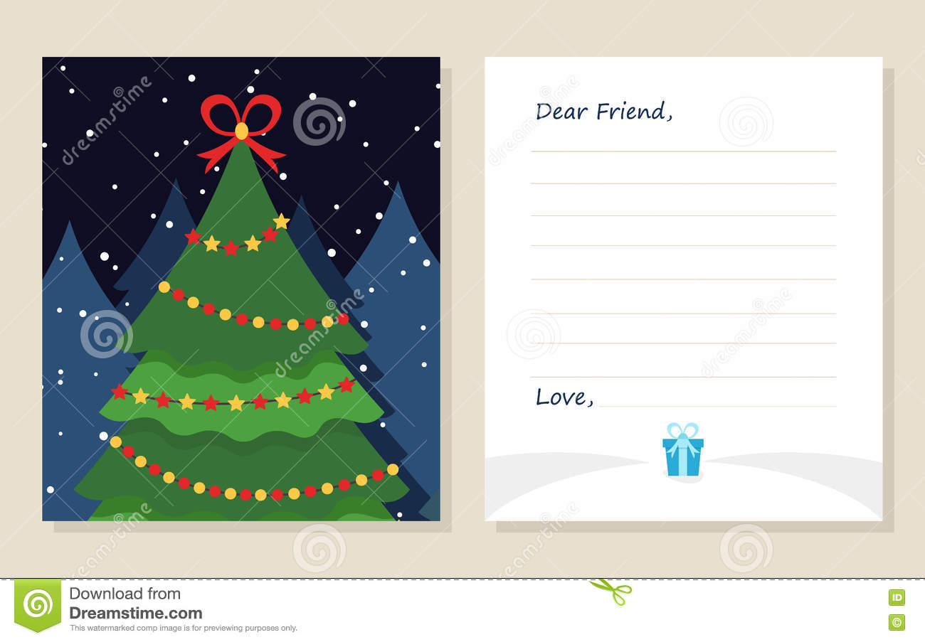 Template greeting card new years or merry christmas letter to dear royalty free illustration download template greeting card new years or merry christmas letter spiritdancerdesigns Gallery