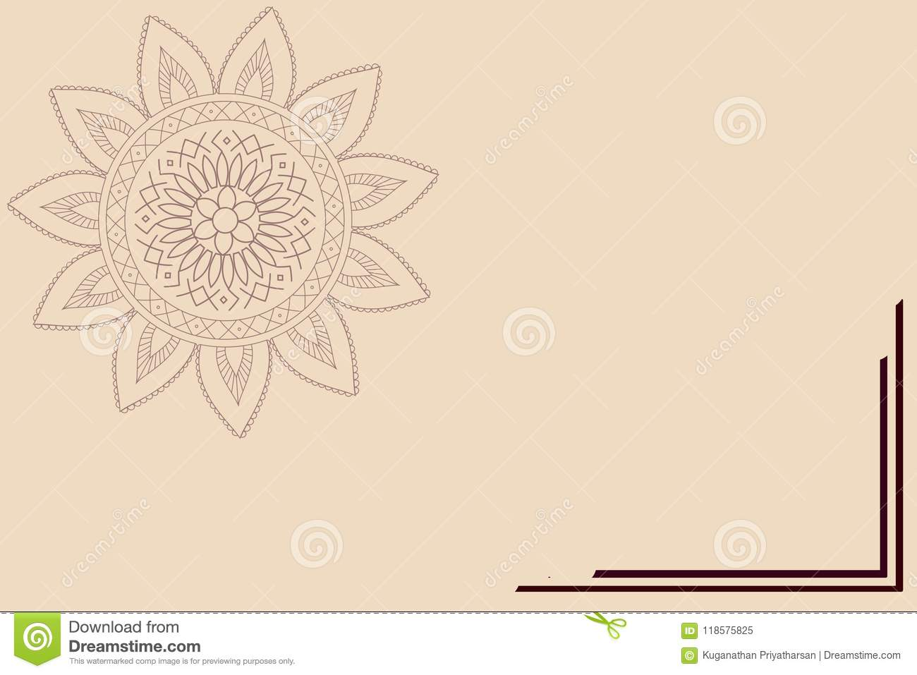 Template For Greeting Cards Invitations Posters Etc Stock
