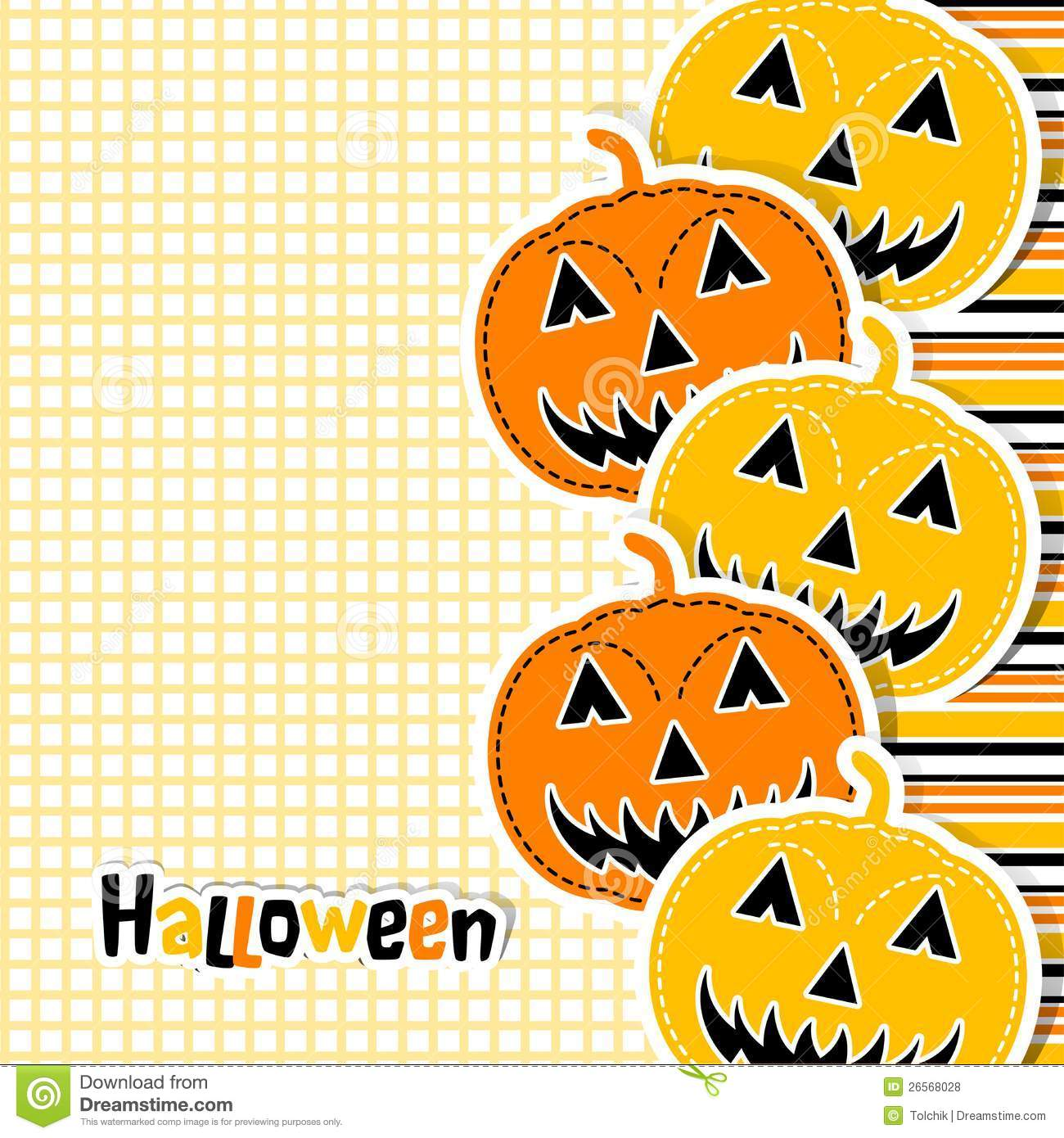 Template Halloween Greeting Card Vector Stock Vector Illustration
