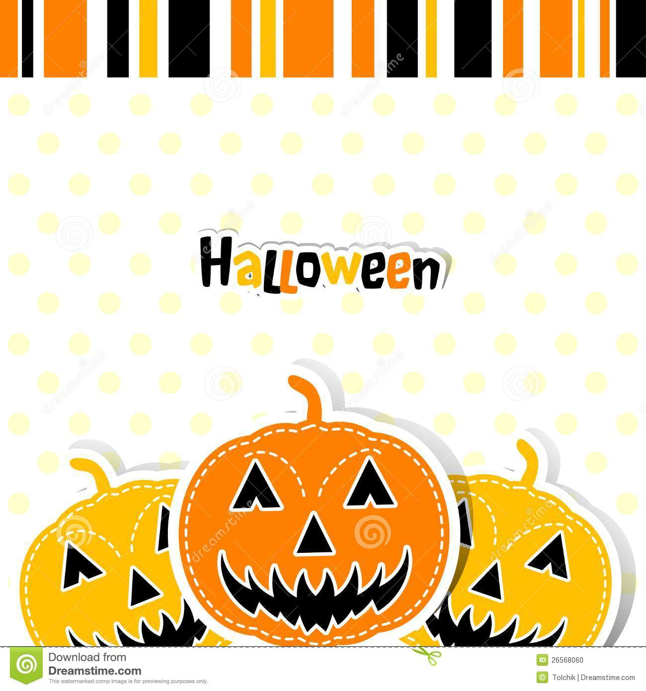 Template Halloween Greeting Card, Vector Stock Photo - Image: 26568060