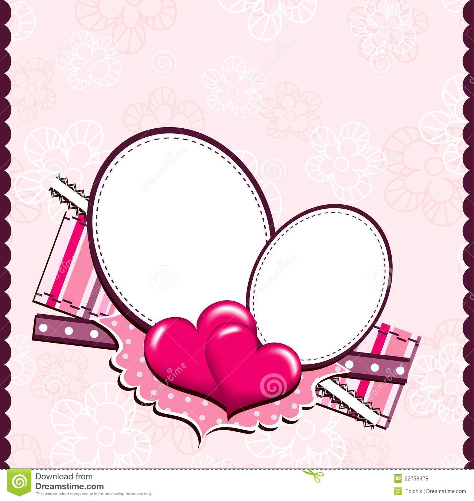 Heart Card Template Template heart greeting card,
