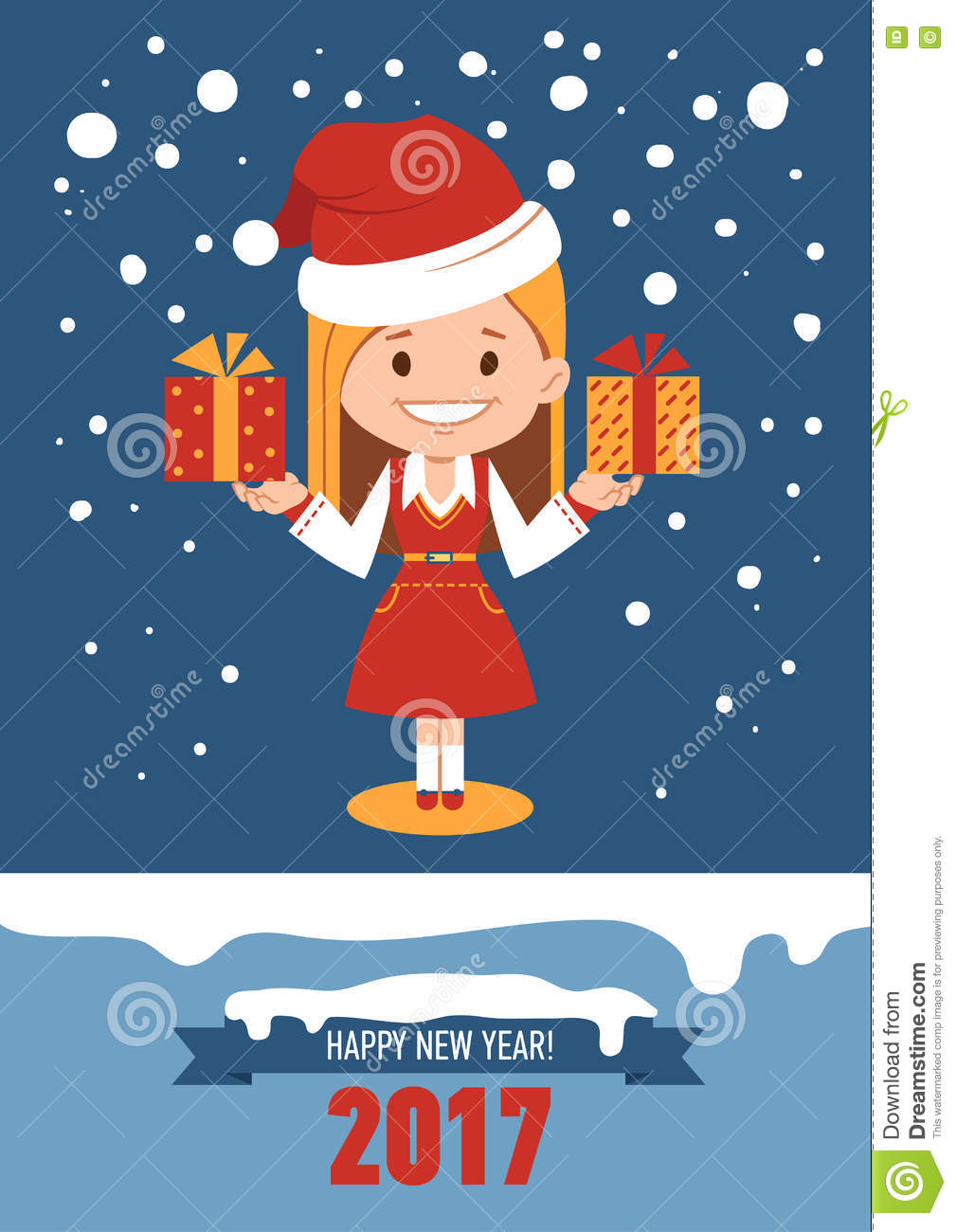 template of holiday postcard new year 2017 card stock vector template of holiday postcard new year 2017 card