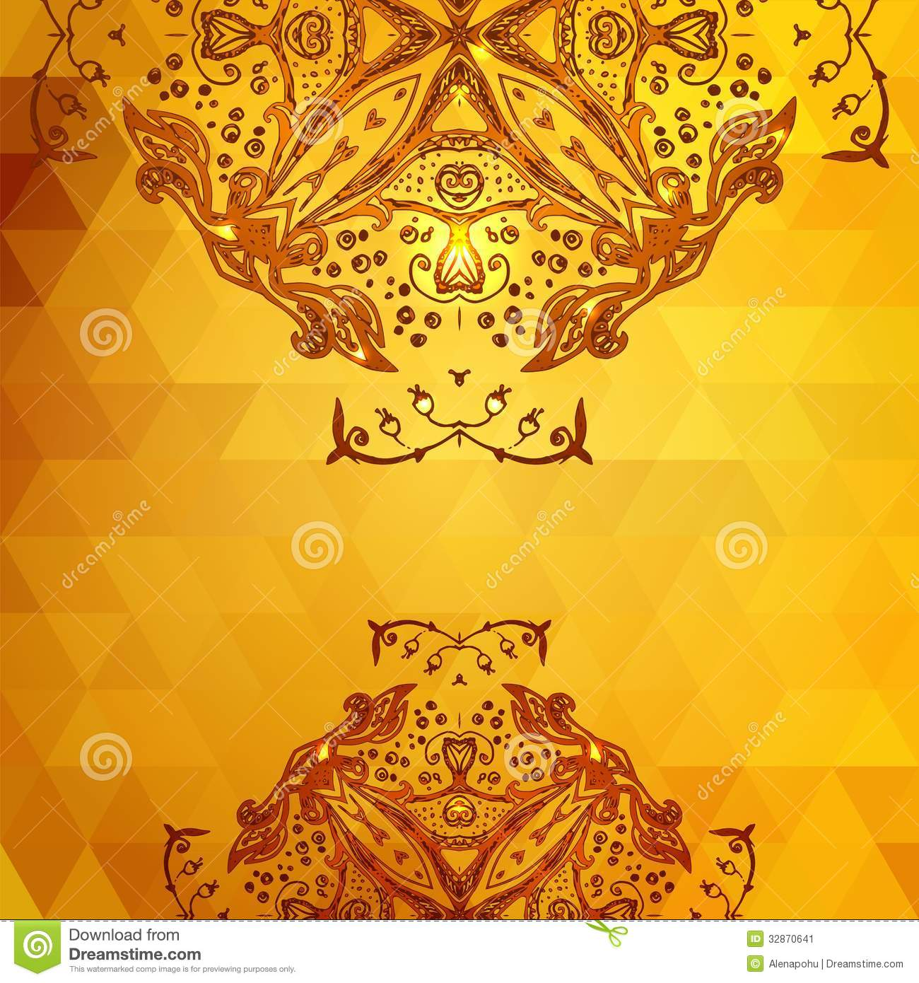template for invitation card background  gold stock image