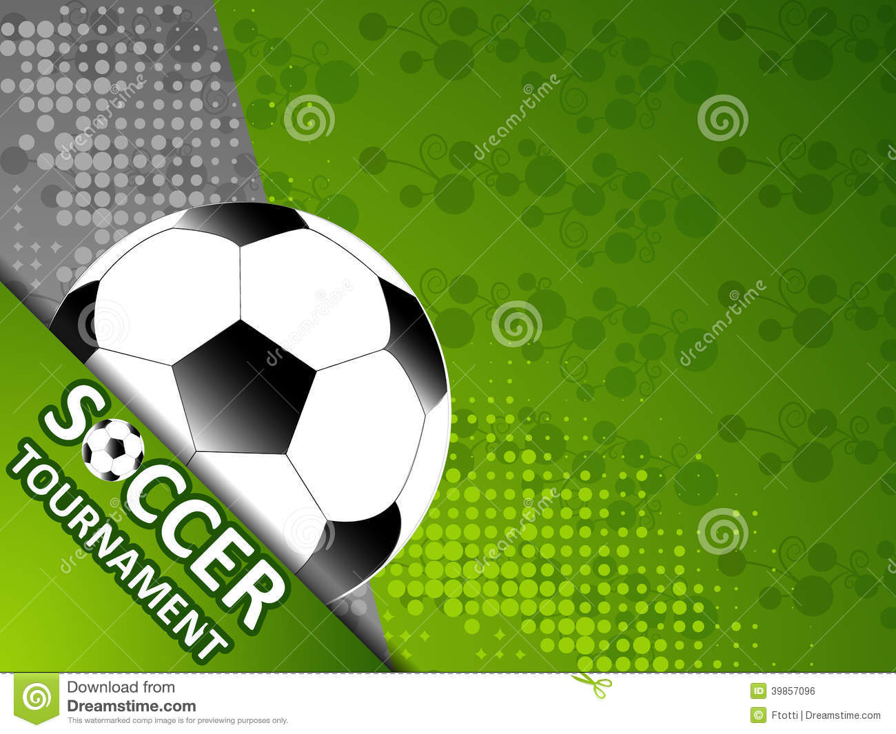 Template For The Invitation Soccer Tournament Stock Vector Image