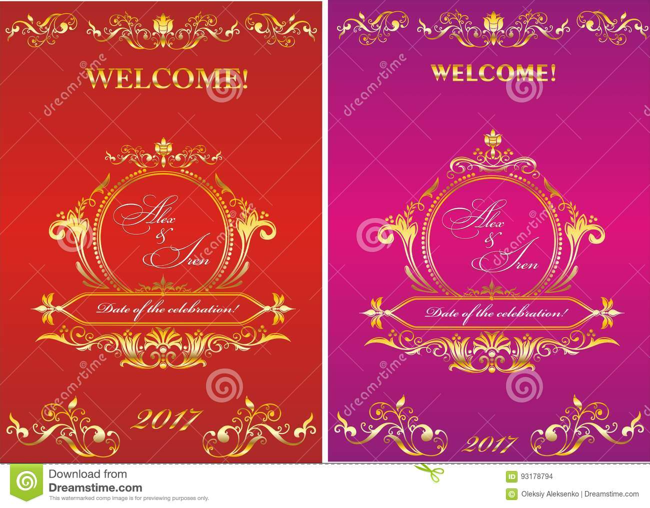 Template Invitation To The Wedding. Stock Vector - Illustration of ...