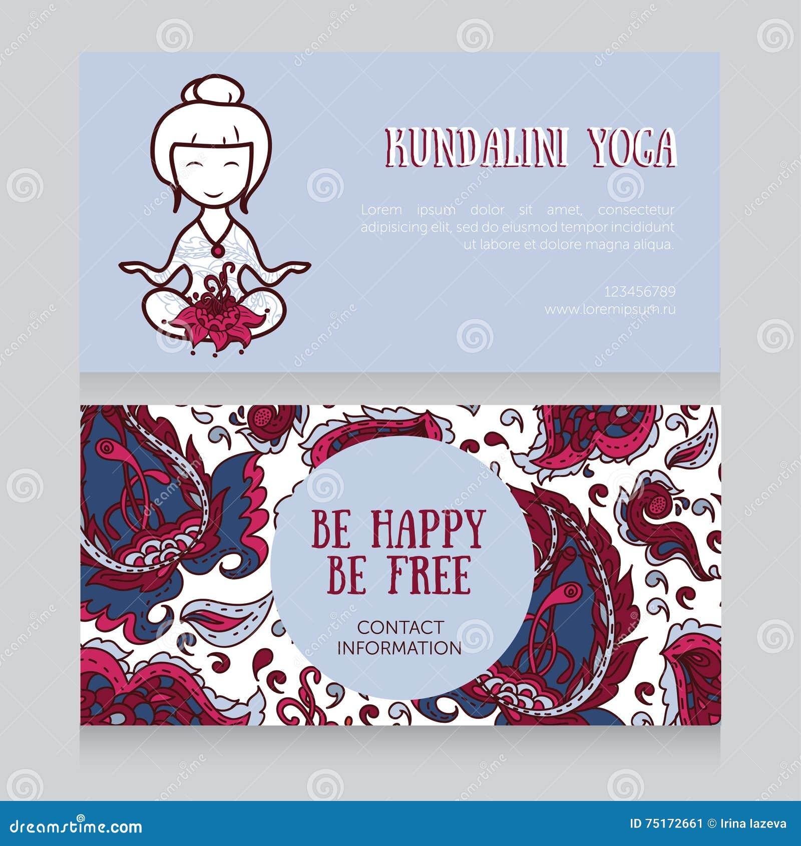 Template for kundalini yoga studio business card stock vector template for kundalini yoga studio business card stock image reheart Image collections