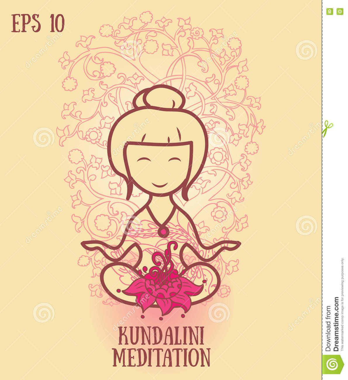 Template for kundalini yoga studio business card stock vector template for kundalini yoga studio business card energy flower reheart